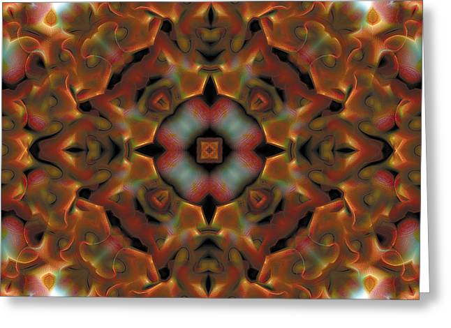 Mandala 119 Greeting Card by Terry Reynoldson