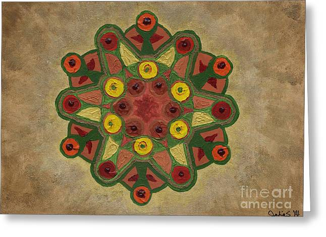 Mandala 2134 Greeting Card
