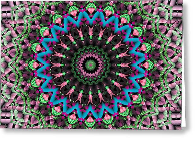 Mandala 33 Greeting Card by Terry Reynoldson