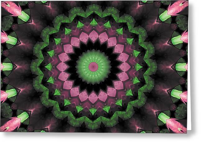 Mandala 34 Greeting Card by Terry Reynoldson