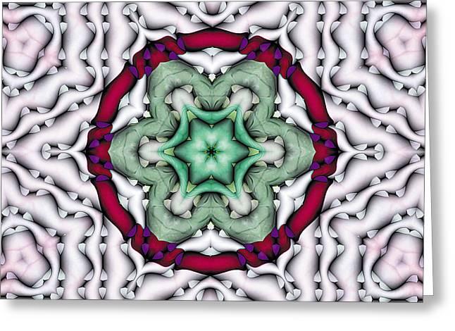 Mandala 7 Greeting Card by Terry Reynoldson