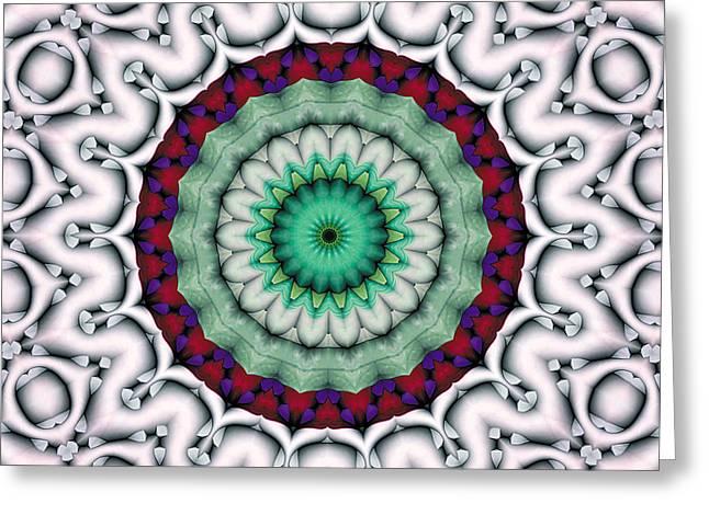Mandala 9 Greeting Card by Terry Reynoldson