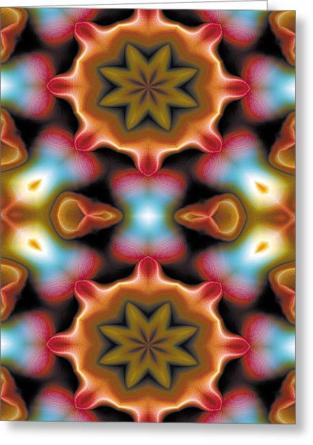 Mandala 94 For Iphone Double Greeting Card by Terry Reynoldson