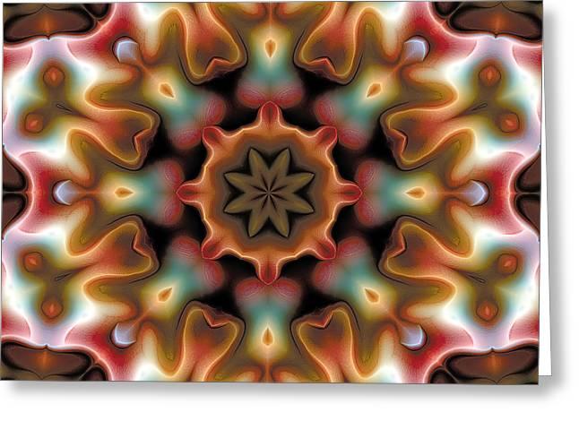 Mandala 95 Greeting Card by Terry Reynoldson