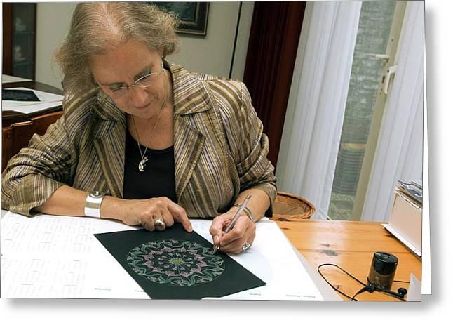 Mandala Art Therapy Greeting Card