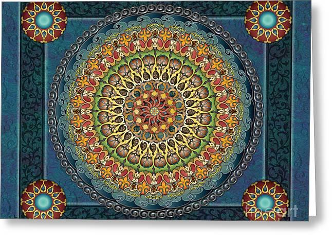 Mandala Fantasia Sp Greeting Card
