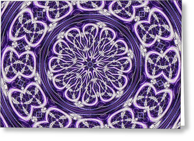Greeting Card featuring the photograph Mandala by Linda Weinstock