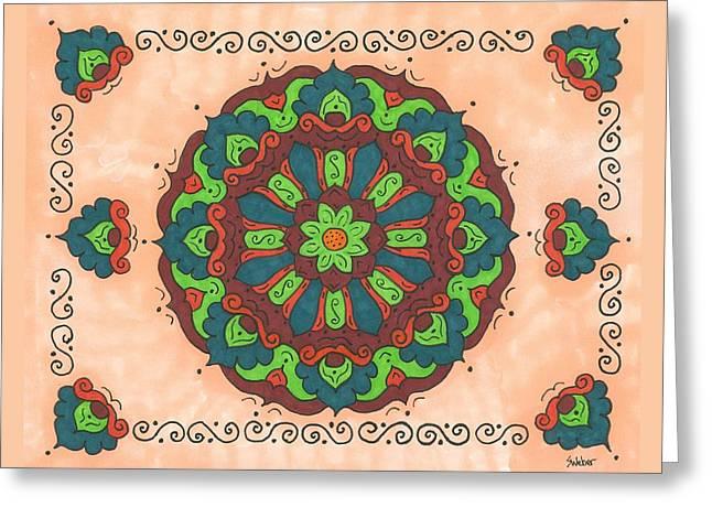 Mandala Love Greeting Card by Susie WEBER