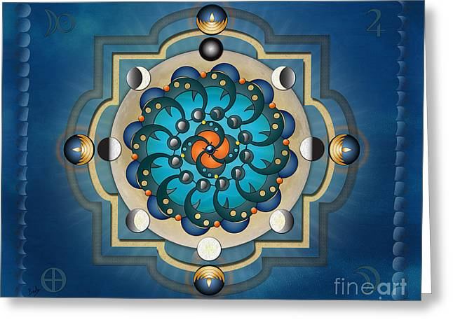 Mandala Moon Phases - Sp Greeting Card