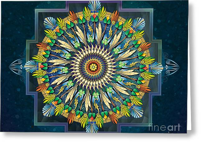 Mandala Night Wish Sp Greeting Card by Bedros Awak