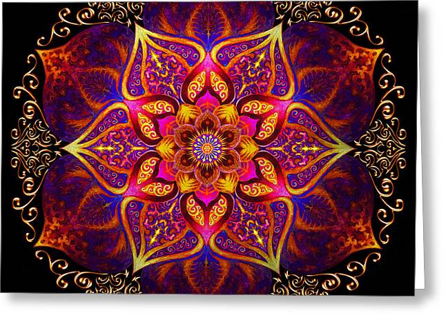 Mandala Of Fire  Greeting Card