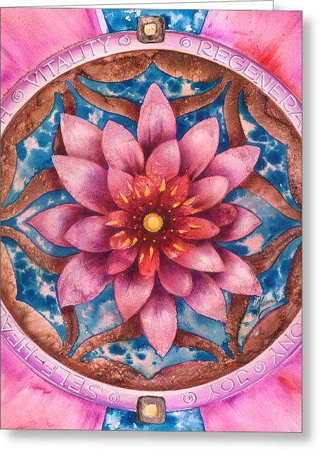 Mandala Of Health Greeting Card