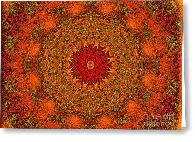 Mandala Of The Rising Sun - Spiritual Art By Giada Rossi Greeting Card