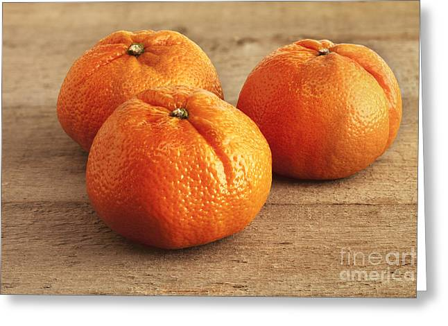 Mandarin Oranges Greeting Card by Colin and Linda McKie