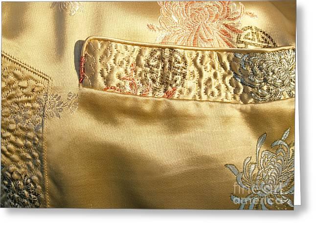 Mandarin Silk Jacket - Pocket Detail Greeting Card by Anna Lisa Yoder
