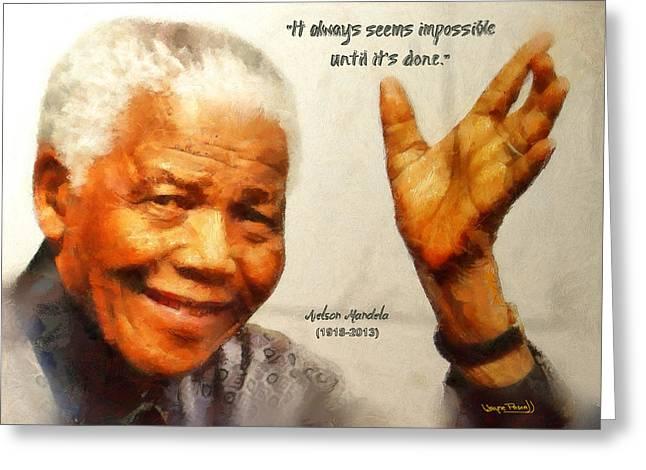 Mandela Farewell Greeting Card
