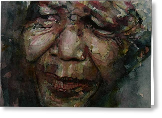 Mandela   Greeting Card by Paul Lovering
