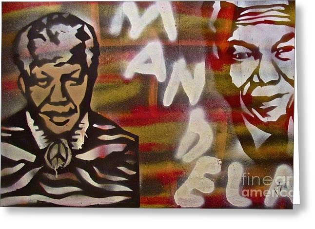 Mandela Greeting Card by Tony B Conscious