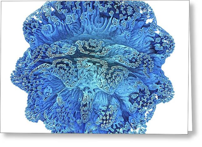 Mandelbulb Fractal Greeting Card by Alfred Pasieka