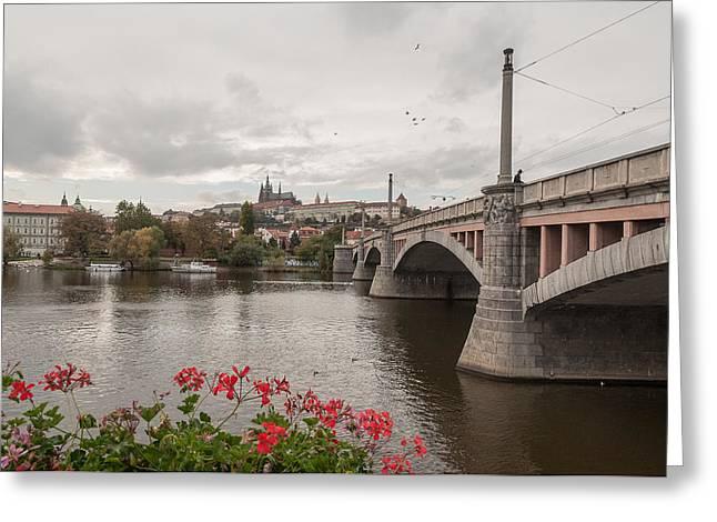 Manesuv Bridge Greeting Card by Sergey Simanovsky