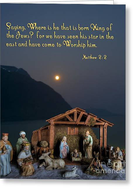 Manger Scene Greeting Card