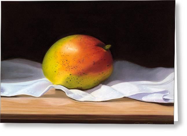 Mango Pastel Greeting Card by Paul Riccardi