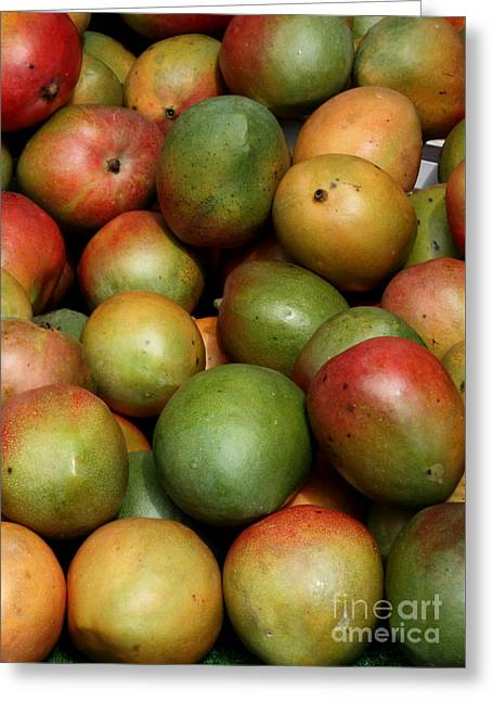 Mangoes Greeting Card by Carol Groenen