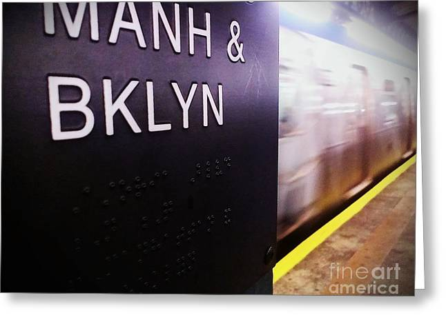 Greeting Card featuring the photograph Manhattan And Brooklyn by James Aiken