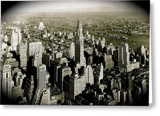 Manhattan And Chrysler Building II Greeting Card