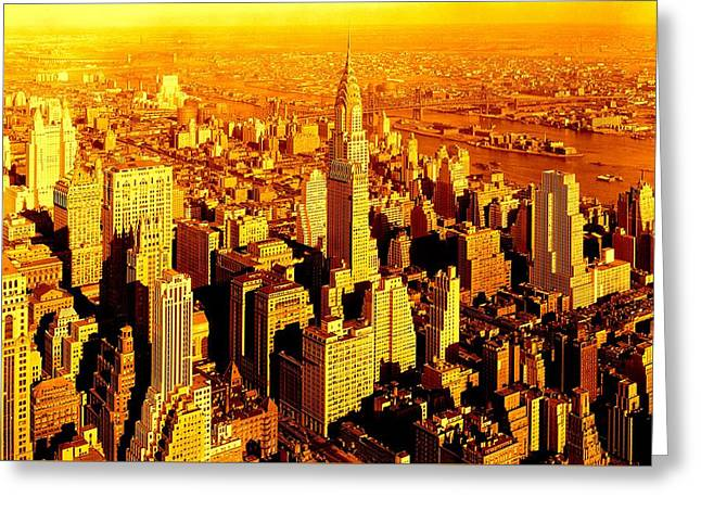 Manhattan And Chrysler Building Greeting Card
