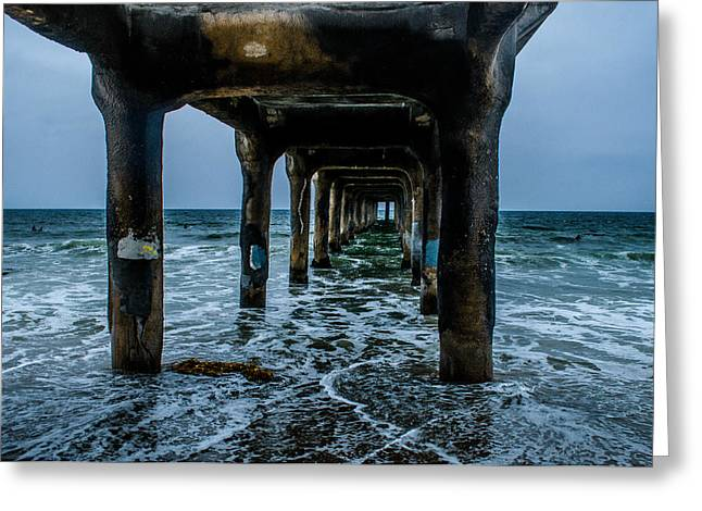 Manhattan Beach Peir Greeting Card by Joe Scott
