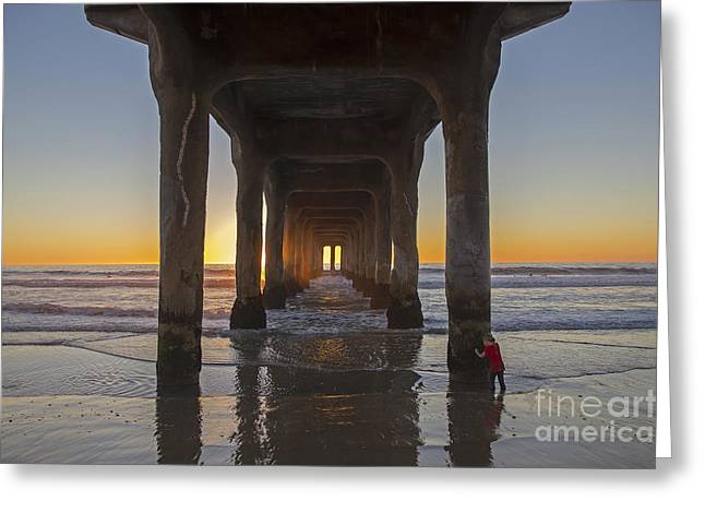 Manhattan Beach Pier Greeting Card