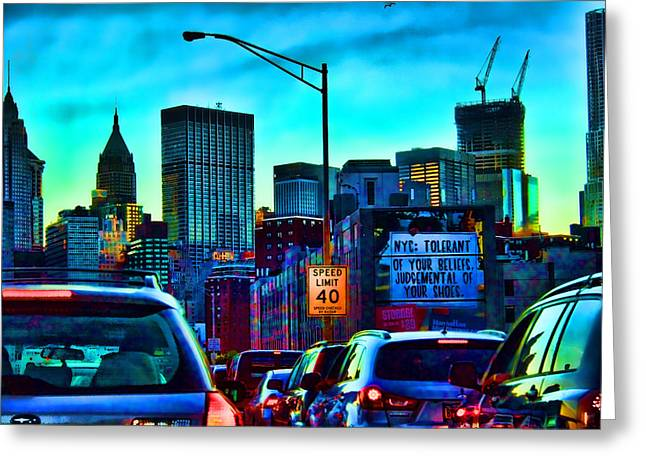 Manhattan Bound Greeting Card by Terry Cork