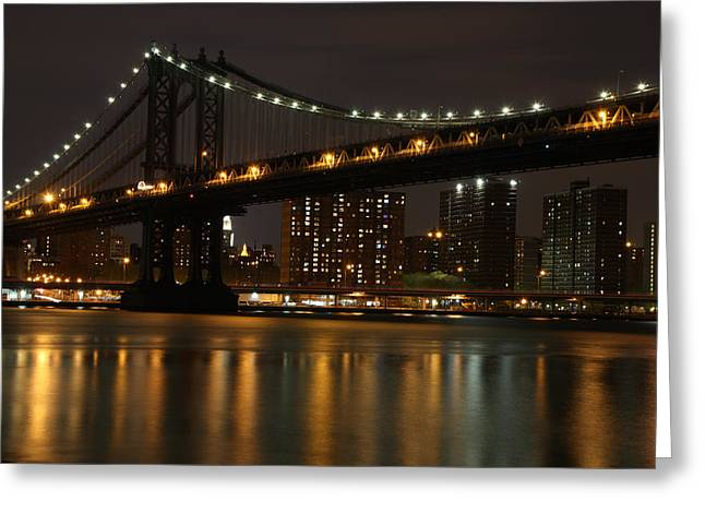 Manhattan Bridge 3019-48 Greeting Card by Deidre Elzer-Lento