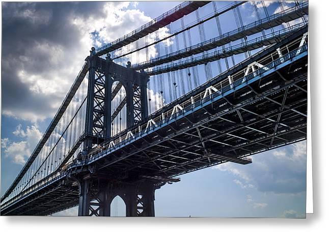 Manhattan Bridge Greeting Card by Chris Halford