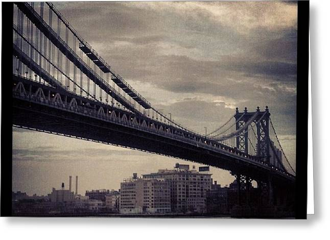 Manhattan Bridge In Ny Greeting Card