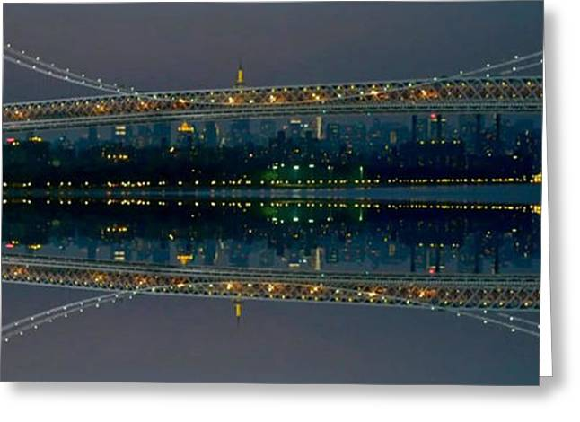 Manhattan Bridge New York Greeting Card