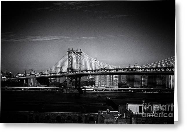 Manhattan Bridge New York City Greeting Card by Sabine Jacobs