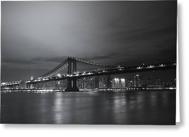 Manhattan Bridge - New York City Greeting Card by Vivienne Gucwa