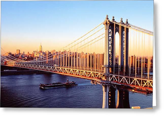 Manhattan Bridge, Nyc, New York City Greeting Card by Panoramic Images