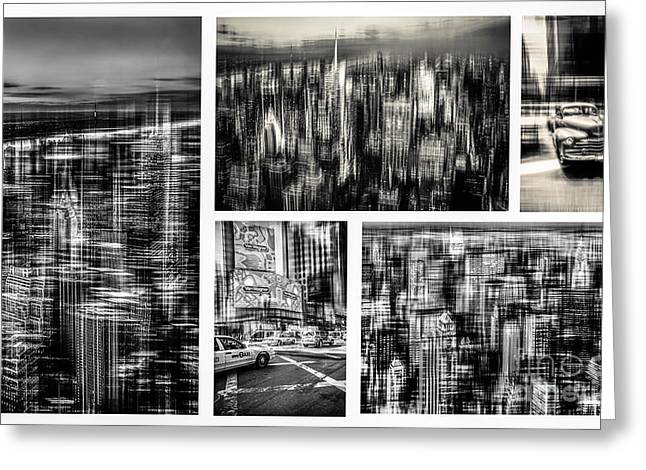 Manhattan Collection II Greeting Card by Hannes Cmarits