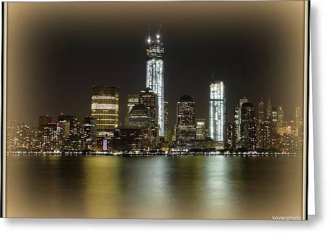 Manhattan  Greeting Card by David Kovac