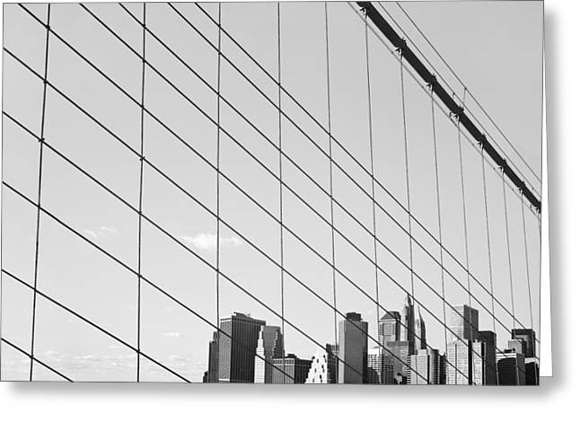 Manhattan From Brooklyn Bridge Greeting Card