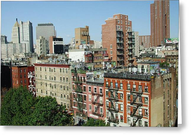 Manhattan Graffiti Greeting Card by Diane Reed