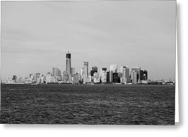 Manhattan In Black And White Greeting Card by Rob Hans