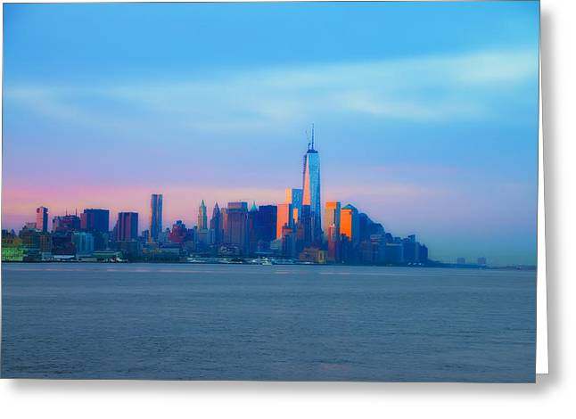 Manhattan In The Morning Greeting Card