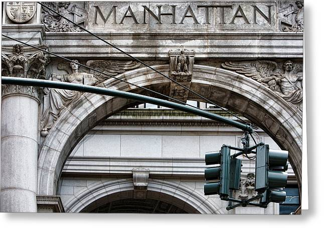 Manhattan Greeting Card by Joanna Madloch
