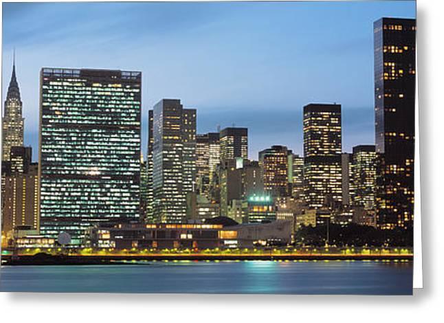 Manhattan, Nyc, New York City, New York Greeting Card by Panoramic Images