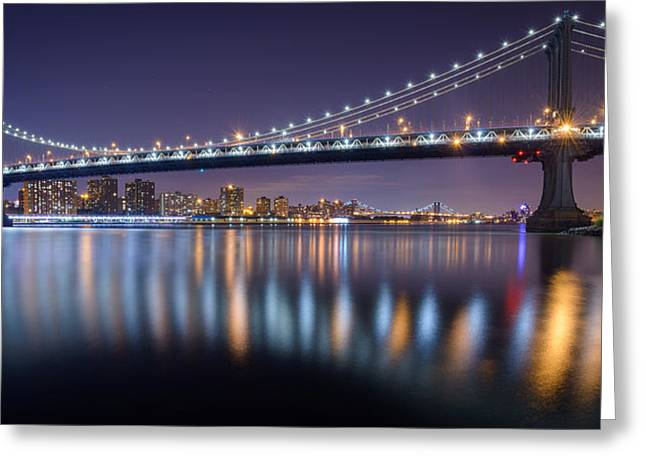 Manhattan Reflections  Greeting Card