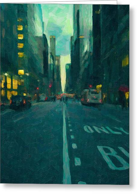 Manhattan Road Greeting Card